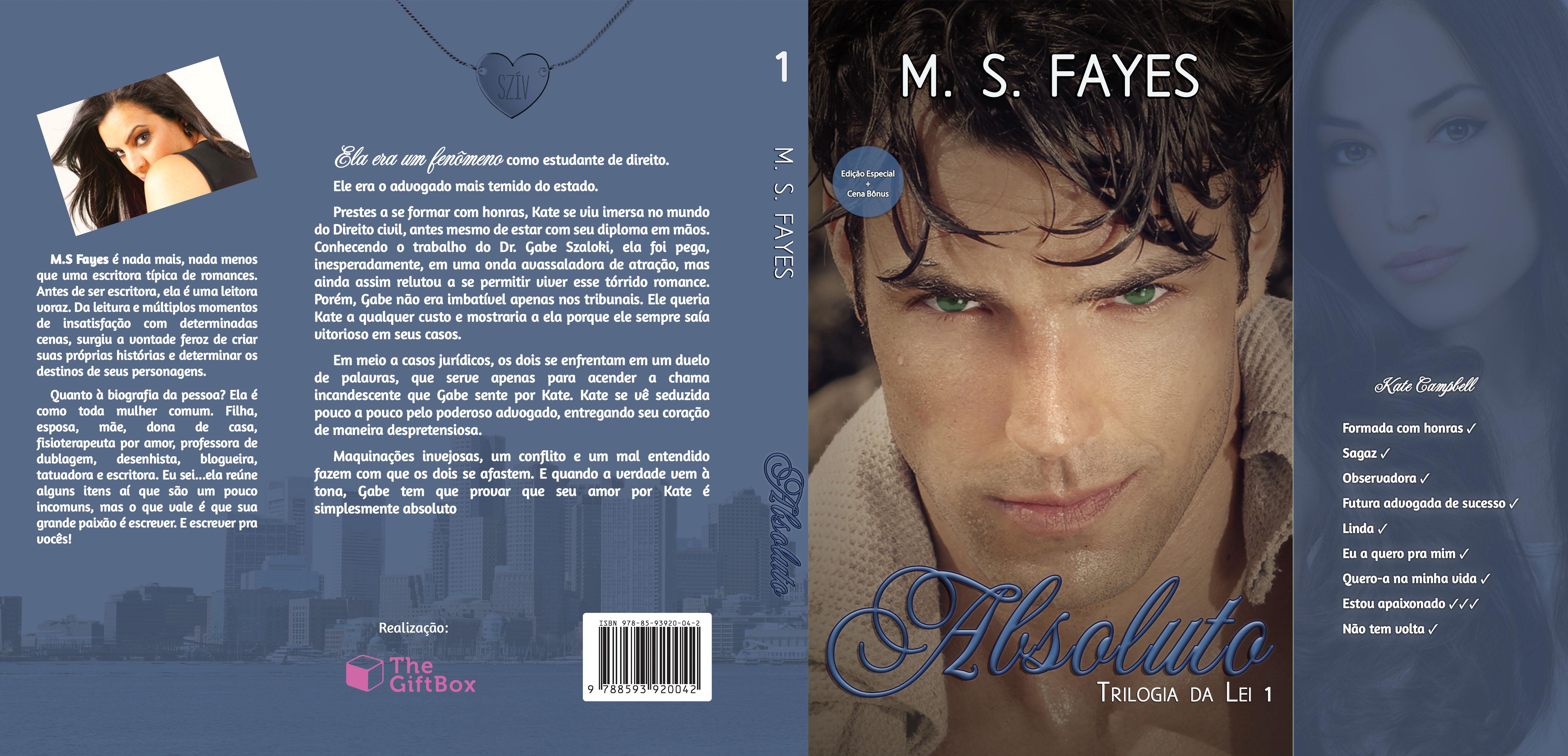 Absoluto – Trilogia da Lei 1 – M. S. Fayes (Diagramação impressa – Publicação independente)