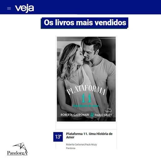 Livro Plataforma 11 na lista de mais vendidos da Revista Veja